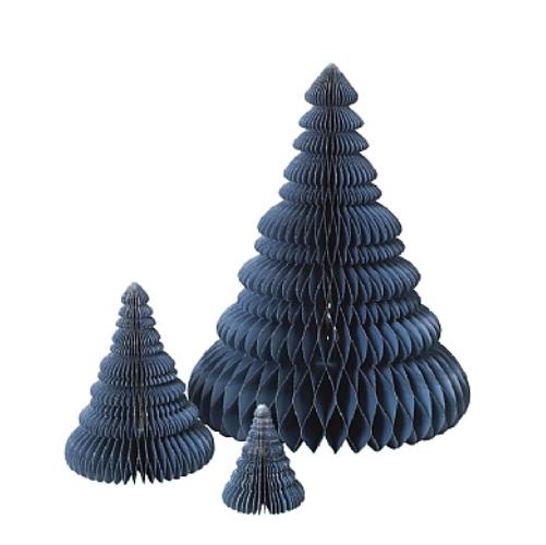 Broste Tannenbäume 3-er Set Orion blue